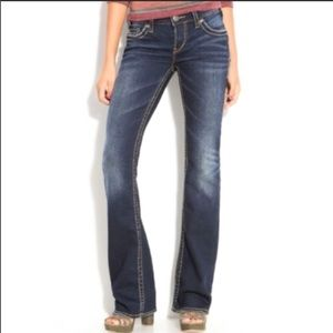 Silver Aiko Boot Cut Jeans Size 28